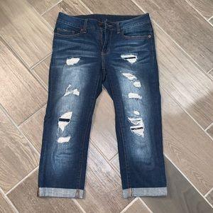 Women's cropped Capri jeans